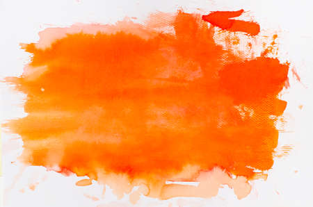 watercolor orange painted background texture