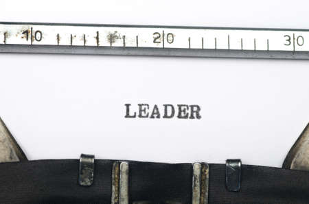 typed: word leader  typed on an old typewriter