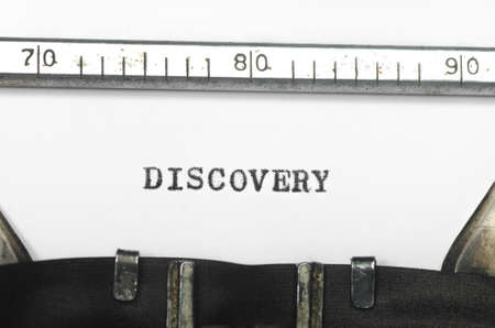 typed: word discovery typed on an old typewriter