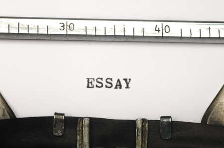 essay: word essay typed on an old typewriter Stock Photo