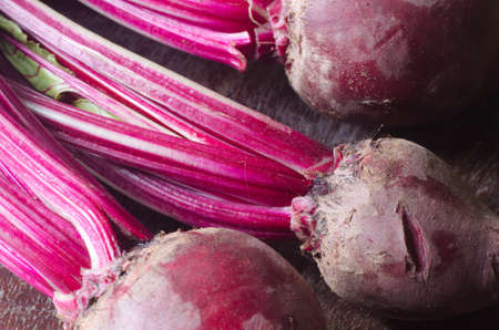 herbage: beetroot with herbage  on table