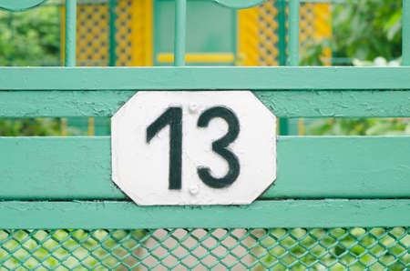 ongelukkige 13 nummer op wicket