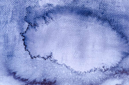 artisitc: blue watercolor painted on paper backround texture Stock Photo