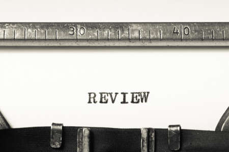 typed: Word review typed on an old typewriter