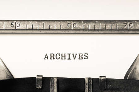 annals: Word archives  typed on an old typewriter