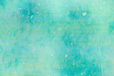artisitc: green and yellow watercolor painted on paper background texture Stock Photo
