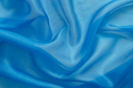 blue silk: blue silk textile texture background Stock Photo