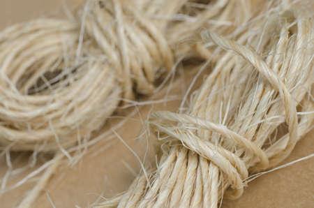 skein: closeup to skein of twine Stock Photo