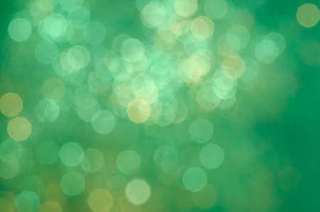 groene kleur wazig lights bokeh achtergrond Stockfoto