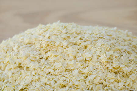 closeup to heaf of nutritional yeast