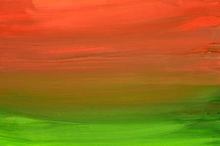 artistic red and green painted background texture