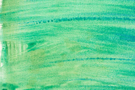 watercolor green color painted texture background Stock Photo