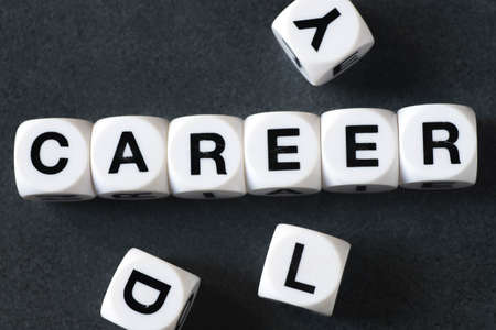 orthography: Word career on white toy cubes Stock Photo