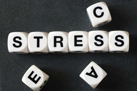 orthography: word stress on white toy cubes