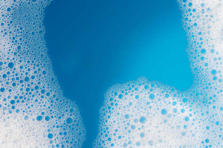 soap foam background texture closeup 写真素材