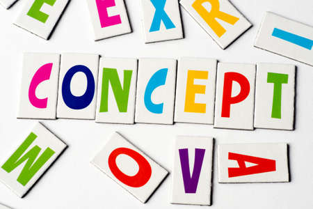 orthography: Word concept made of colorful letters on white background Stock Photo