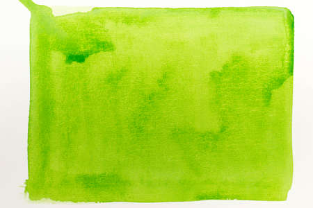 green color watercolor painted texture background on white paper