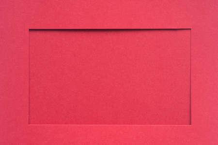 rote Farbe leeres Papier Bilderrahmen Passepartout Standard-Bild