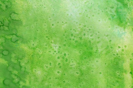 green color watercolor painting on white paper background texture