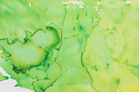 green color watercolor painted on paper background texture