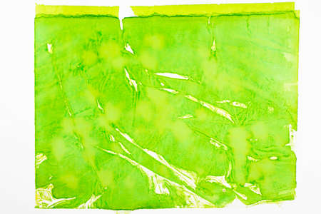 green color painted watercolor on white paper background texture