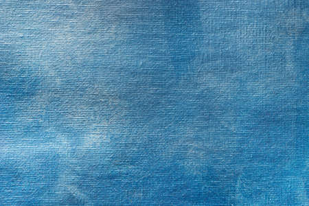 blue painted matallic painted on canvas art background texture Stock Photo