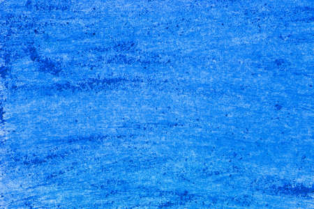 artistic blue color pastel on paper background texture Stock Photo