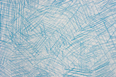 blue color crayon drawings on  paper background texture