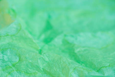 green color creased paper tissue texture background Stock Photo