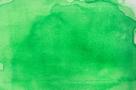green color watercolor on paper painted background texture