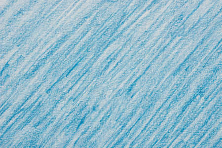 blue color crayon on paper background texture