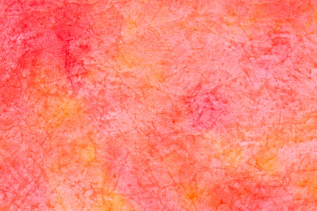 red color creased watercolor painted paper background texture Stock Photo