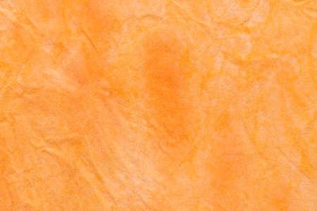 orange color watercolor pastel painted on paper background texture