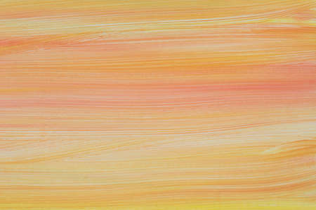orange and yellow colors art acrylic painted on paper background texture Foto de archivo