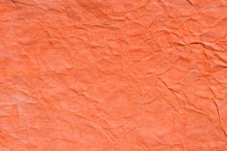 orange color creased pastel paper background texture