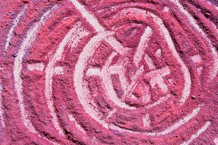 pink powder pigment pattern  background macro Banco de Imagens