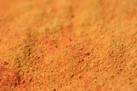 orange powder pigment art texture background macro