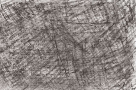 gray color abstract crayon drawing on paper background texture Archivio Fotografico