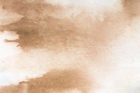 beige color watercolor painted background texture Archivio Fotografico