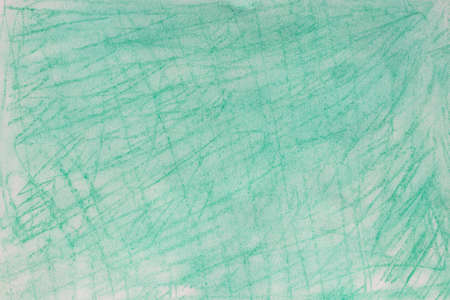 green color pastel crayon background texture on white paper