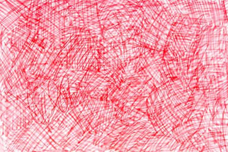 red color marker doodles art background texture Archivio Fotografico