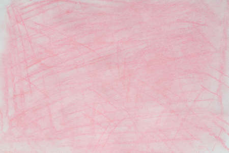 pink color pastel crayon background texture on white paper