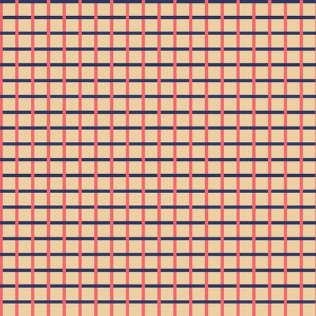 Vector Christmas Plaid in Blue, Red and Beige seamless pattern background.