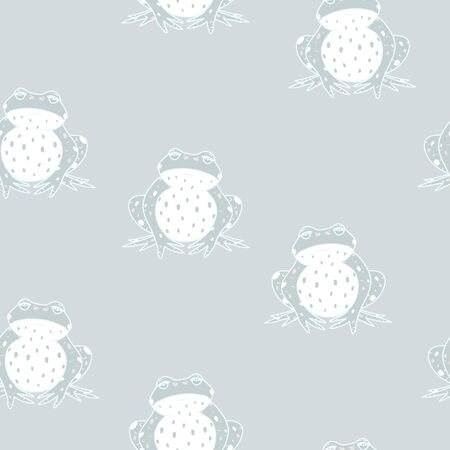 Vector Pastel Green Frogs seamless pattern background. Vector Illustratie