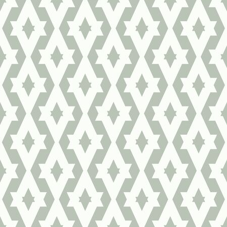 Vector Art Deco Detail Abstract in Sea Foam Green and White seamless pattern background.