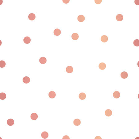 Vector Fun and Festive Rose Gold Confetti seamless pattern background. Perfect for fabric, wallpaper and scrapbooking projects. Ilustración de vector
