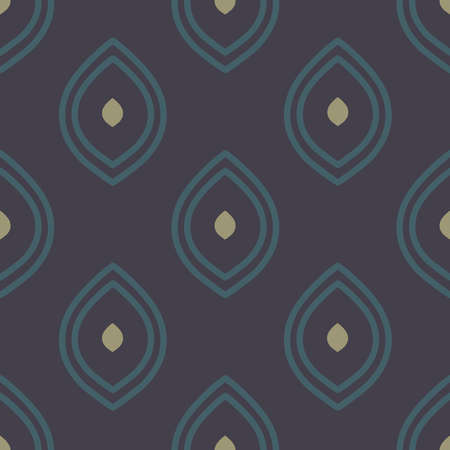 Vector Moody Ogee on Dark Purple seamless pattern background. Perfect for fabric, scrapbooking and wallpaper projects.