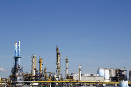 Industrial facilities in a chemical plant