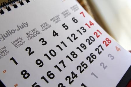 tasking: Calendar Stock Photo