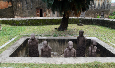 Monument to slaves in Zanzibar  Slavery was held in this island for many years